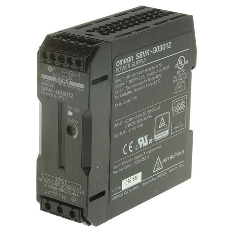 FUENTE ALIMENT. 12V 2.5A  30W CARRIL
