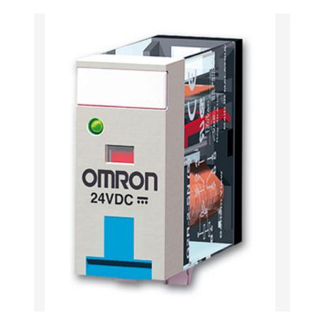 RELE OMRON DPDT 5A 12DC LED+PULSADOR